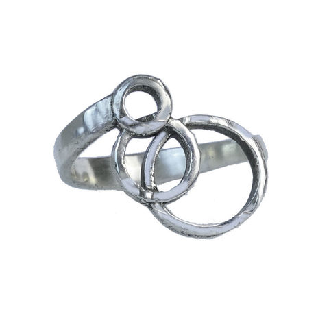 Circles,of,Happiness,ring,by,Varr-Dan,silver circles ring, Varr-Dan, jedeco, geometric silver ring