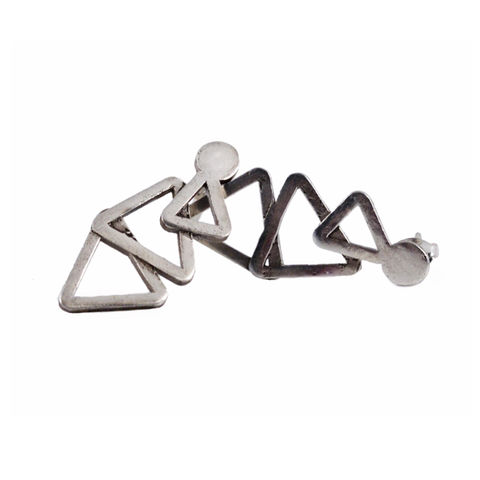 Charming,triangles,earrings,by,Varr-Dan,silver earrings with triangles, Varr-Dan, jedeco, geometric silver earrings