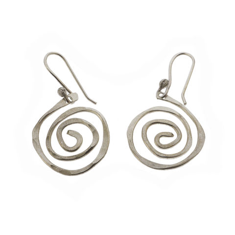 Spiral,earrings,by,Varr-Dan,silver spiral earrings, Varr-Dan, jedeco