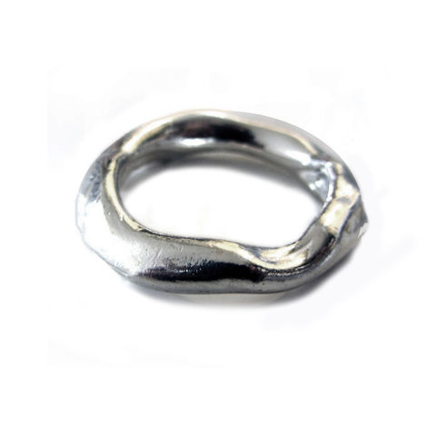 Big,Molten,Silver,Ring,by,Catherine,Marche,organic silver ring, molten silver ring, ring for men, jewellery for men