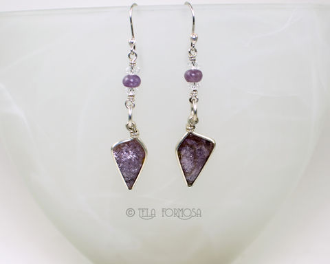 Wire,Wrapped,Lepidolite,Earrings,Sparkly,Iridescent,Lilac,Purple,Handmade,Sterling,Silver,Wire_Wrapped_Jewelry,Lepidolite_Earrings,lepidolite,earrings,stone_earrings,purple_stone,Sterling_Silver,Gemstone,Cabochon_Earrings