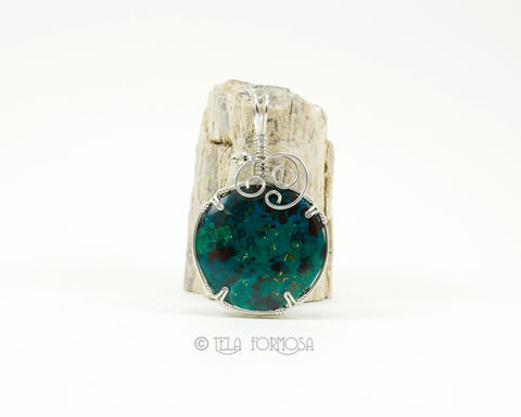 Chrysocolla,Pendant,Blue,Green,Natural,Stone,Sterling,Silver,Wire,Wrapped,Jewelry,Handmade,Wire_Wrapped_Pendant,Chrysocolla_Pendant,chrysocolla,Blue_Green,green_blue,blue,green,Blue_Natural_Stone,Cabochon_Pendant,Sterling_Silver,Wire_Wrapped_Jewelry,natural_stone