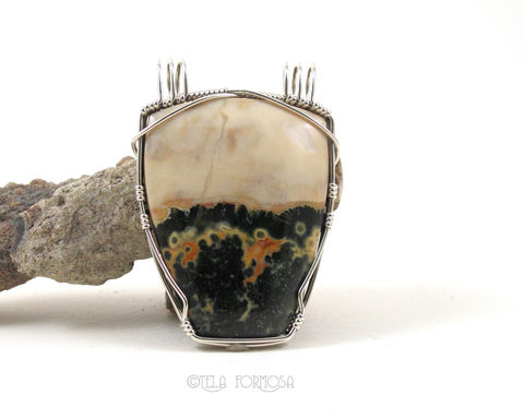 Rare,Ocean,Jasper,Pendant,Double,Bail,Green,and,Yellow,Natural,Stone,Sterling,Silver,Wire,Wrapped,Jewelry,Unique,Large,Ocean_Jasper,jasper_Pendant,pendant,Green_and_Yellow,Natural_Stone,stone_Pendant,Sterling_Silver,Handmade,double_bail,Wire_Wrapped_Pendant