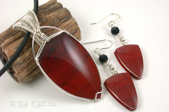 Red Jasper Sterling Silver Set