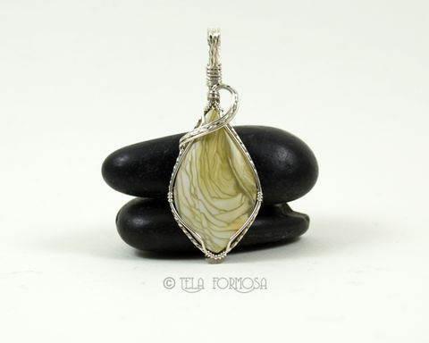 RESERVED,Small,Willow,Creek,Jasper,Pendant,Yellow,/,Green,Stone,Wire,Wrapped,Sterling,Silver,Willow Creek Jasper Pendant, willow creek jasper, Yellow, Wire Wrapped, Sterling Silver