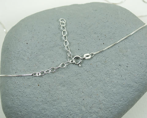 Lighter,1mm,Sterling,Silver,Box,Chain,Italian,Adjustable,16,to,18,/,41,46cm, Sterling Silver, Box Chain, Italian, 16 to 18, 41 to 46cm, adjustable chain