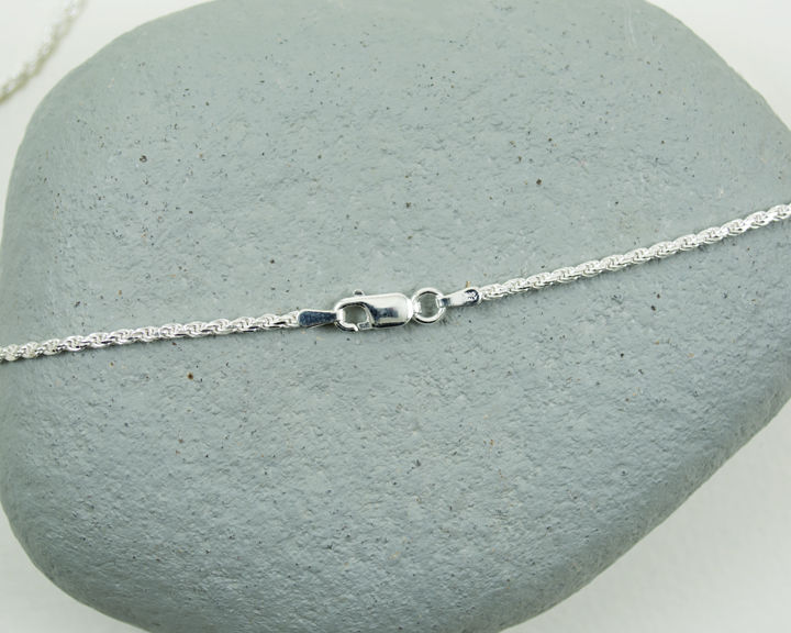 "Heavier 2mm Sterling Silver Twisted Rope Italian Chain 18"" 47cm - product images  of"