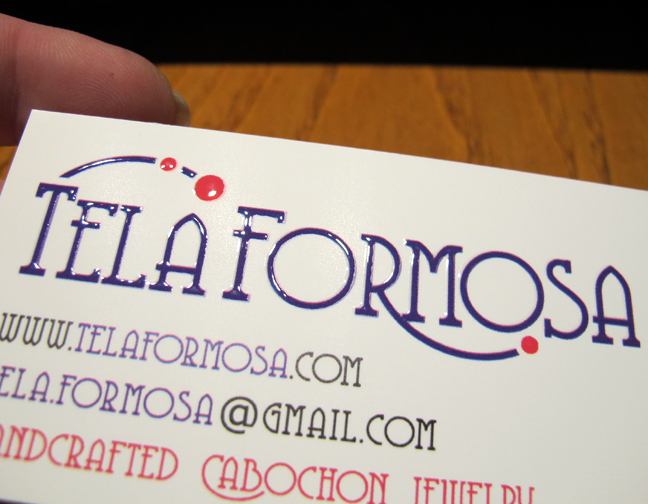 Tela Formosa Business Card embossed