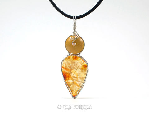 Wire,Wrapped,Two,Stone,Pendant,Carnelian,Quartz,Yellow,Orange,Natural,Sterling,Silver,Two_Stone_Pendant,Double_Stone,Yellow_Natural_Stone,stone_Cabochon,cabochon_Pendant,pendant,Sterling_Silver,Handmade,wire_wrapped,wire_wrapped_pendant,gem,natural stone cabochon,Sterling Silver Wire,Brazilian Yellow Quart