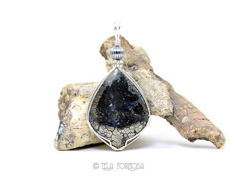 Nipomo,Marcasite,Agate,Pendant,Metallic,Plumes,Natural,Stone,Cabochon,Sterling,Silver,Jewelry,Nipomo_Marcasite,Marcasite_Agate,agate_Pendant,Golden,Cabochon_Pendant,Sterling_Silver,Handmade,natural_stone,wire_wrapped_pendant,Rare