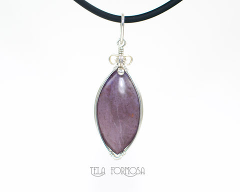 Rare,Turkish,Purple,Jade,Pendant,Natural,Stone,Cabochon,Handmade,Wire,Wrapped,Jadeite,Purple_Jade_Pendant,Natural_Purple_Stone,stone_Pendant,Cabochon_Pendant,Wire_Wrapped_Jewelry,Wire_Wrapped_Pendant,jadeite,jade_pendant,purple_jade,natural,Very rare natural Turkish purple jade,solid sterling silver