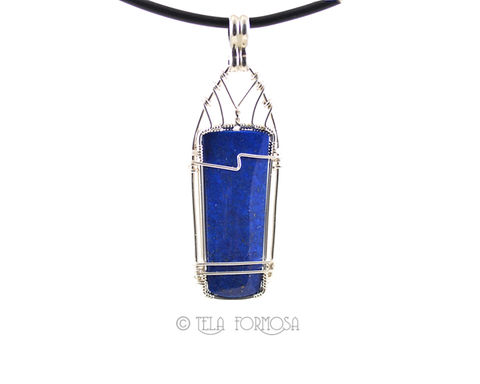Unisex,Men's,Blue,Lapis,Pendant,Natural,Stone,Cabochon,Gemstone,Wire,Wrapped,Handmade,men's_Jewelry,Wire_Wrapped_Pendant,Lapis_Pendant,Blue_Pendant,Bright_Blue,blue_Natural_Stone,natural_stone,gemstone_Pendant,Cabochon_Pendant,Wire_Wrapped_Jewelry,wire_wrapped,Afganistan