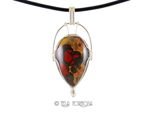 Rarest,Morgan,Hill,Poppy,Jasper,Pendant,Red,Black,Sterling,Silver,Wire,Wrapped,Cabochon,very rare, rare,Jewelry,Wire Wrapped Jewelry,morgan hill poppy jasper,morgan hill,poppy jasper,red and black pendant,jasper_Pendant,Natural_Stone,stone_pendant,Cabochon_Pendant,Sterling_Silver,wire_wrapped_pendant,wire_wrapped, wire wrapped caboch