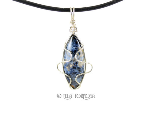 African,Blue,Pietersite,Pendant,Stone,Cabochon,Sterling,Silver,Wire,Wrapped,Wire_Wrapped_Pendant,pietersite_Pendant,Chatoyant,Blue_Stone_Pendant,stone_pendant,Cabochon_Pendant,Sterling_Silver,Handmade,Wire_Wrapped_Jewelry,wire_wrapped,blue_stone,heavy gauge sterling silver wire,Namibia African