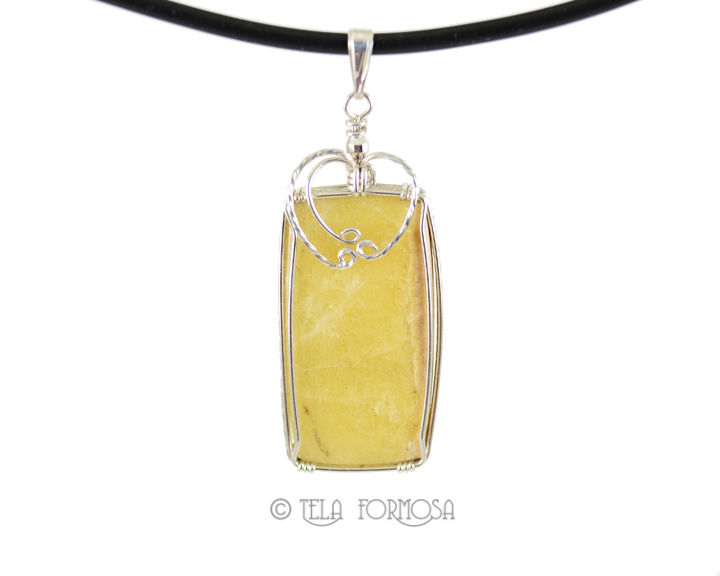 Russian yellow Cancrinite pendant