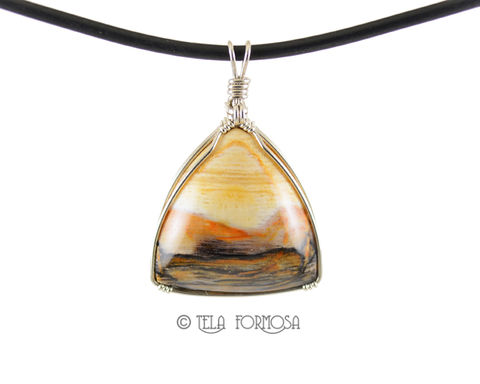 Wire,Wrapped,Opalized,Petrified,Wood,Pendant,Fossil,Handmade,Sterling,Silver,Stone,Jewelry,Wire_Wrapped_Pendant,Petrified_Wood,wood_Pendant,Fossil_Pendant,Brown,Stone_Pendant