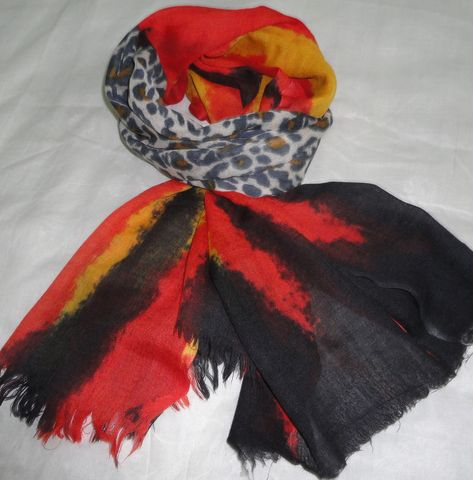Multicolor,Volcanic,Lava,Animal,Print,Silk,Wool,Scarf,Silk wool scarf, scarf, wrap, animal print, volcano colors, printed scarf