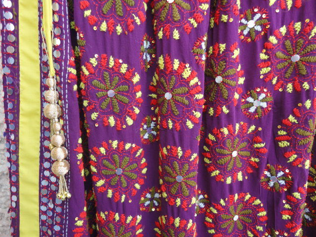 Wine Colored Long Gypsy Skirt Hand Embroidered - product image