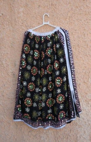 Bohemian Black Gypsy Skirt for Girls in Georgette - product image