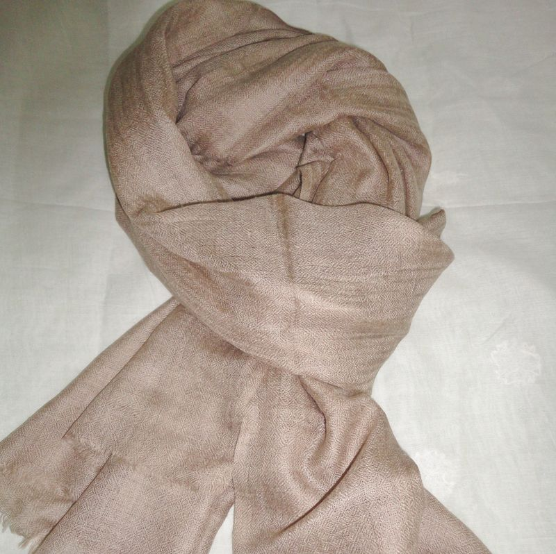 Natural Kashmir Pashmina Stole in Loose Weave - product image