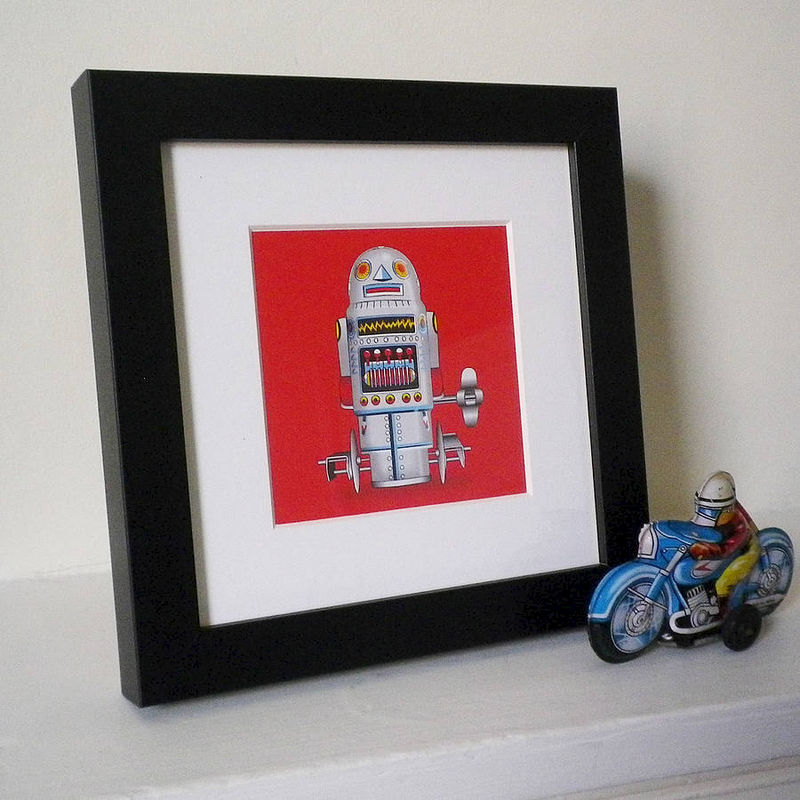 Miniature Tin Toy Robot Prints - product images  of