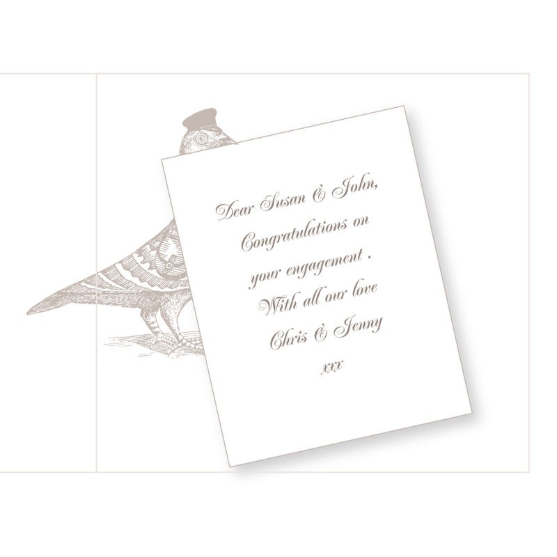 Personalised The Pigeon Post Stationery Co. Engagement Card - product images  of
