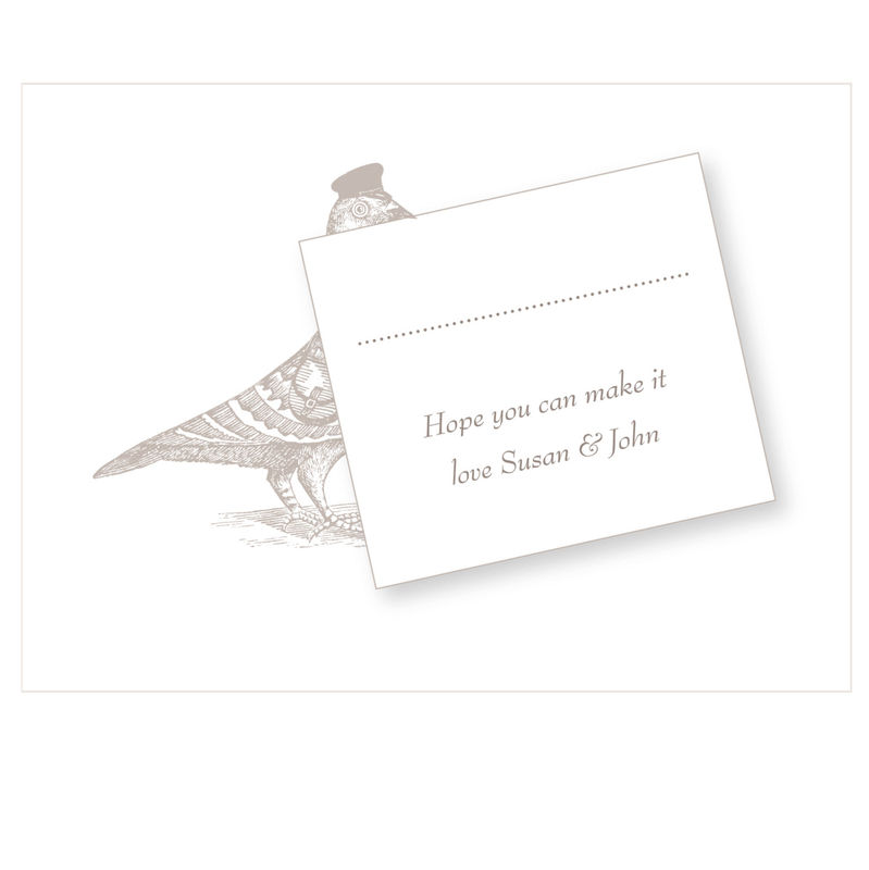 Personalised The Pigeon Post Stationery Co. Save the Date Card - product images  of
