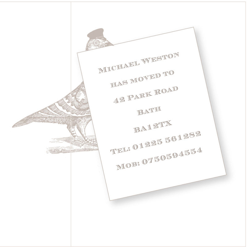 Personalised The Pigeon Post Stationery Co. Moving Card - product images  of