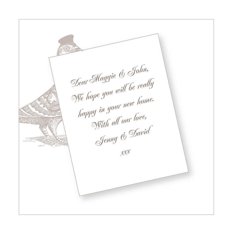 The Pigeon Post Stationery Co. Card ( With 9 different messages) - product images  of