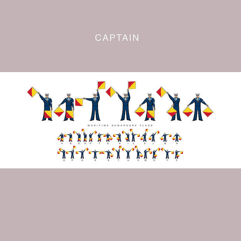 Maritime Semaphore Flags Name Print (Can be personalised) - product images  of