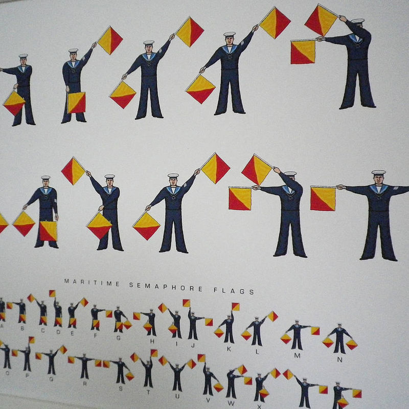 Maritime Semaphore Flags Message Print (Can be personalised) - product images  of