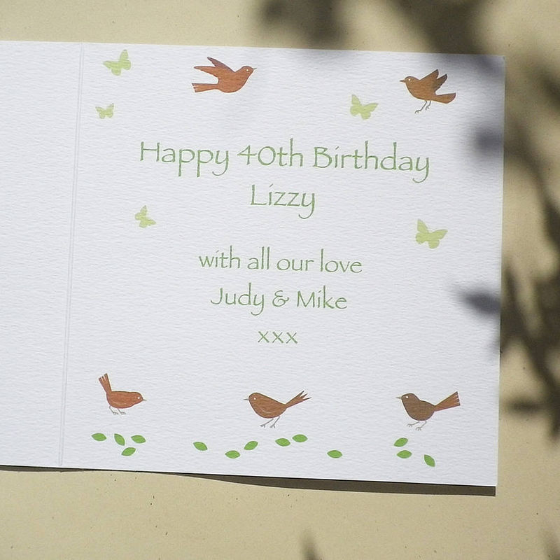 Personalised Topiary Number Card - product images  of