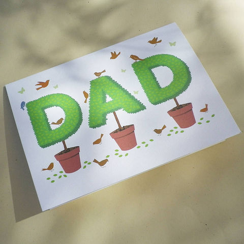 Topiary,Dad,Gift,Card,Paper_Goods,Cards,Birthday,DAD,POP,Father's_Day,Gardener,Garden,Anniversary,Retirement,Cottage_Garden,Alphabet,Name_Card,Graphic