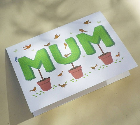 Topiary,Mum,Gift,Card,Paper_Goods,Cards,Birthday,Mom,Mam,Nan,Mother's_Day,Anniversary,Gardening,Gardening_Gift,Cottage_Garden,Birds,Butterflies