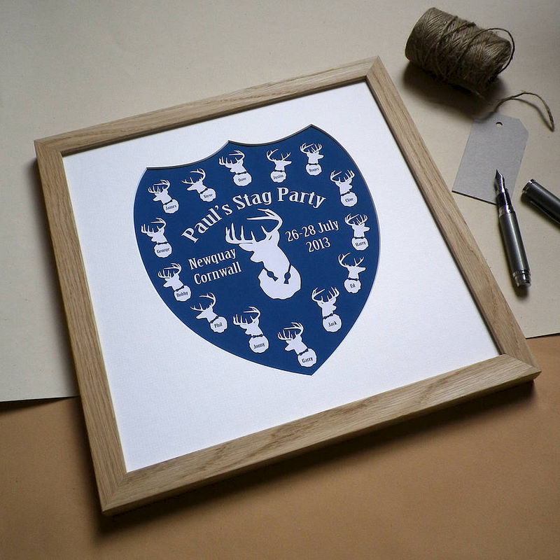Personalised Stag Party Print - product images  of