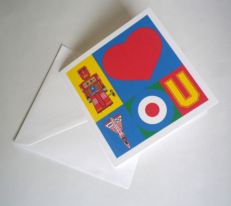 Personalised Pop Art I Love You Card - product images  of