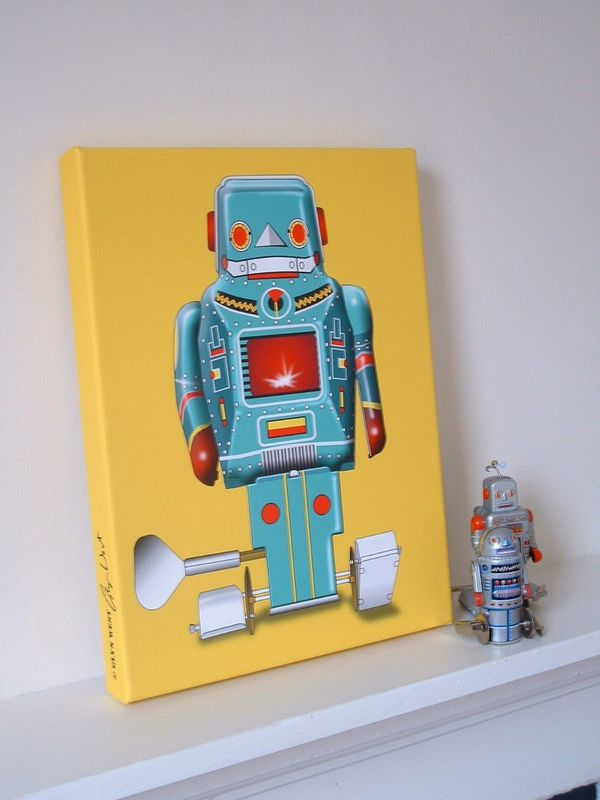 Sparking Robot No 3 Canvas Print - product images  of