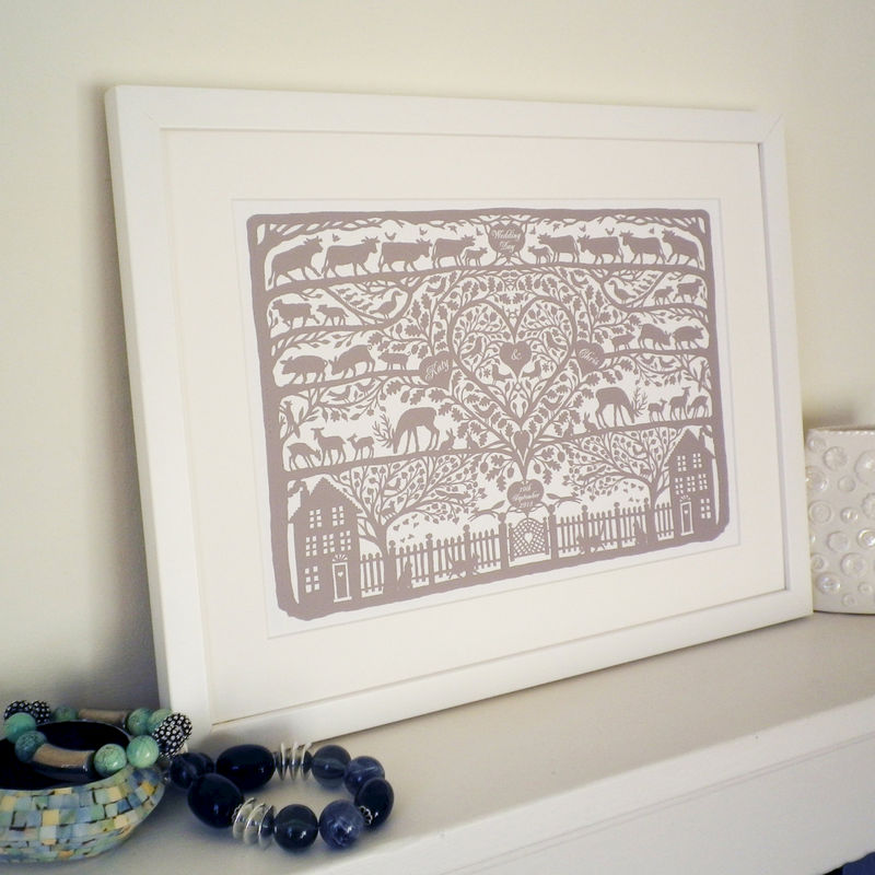 Personalised Heart of the Country Folk Art Inspired Print - product images  of