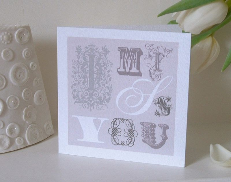 Vintage Style I Miss You Card - product images  of