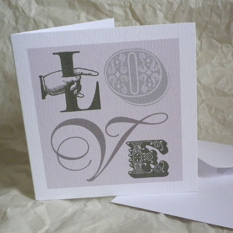 Vintage Style Love Cards ( 6 Designs) - product images  of