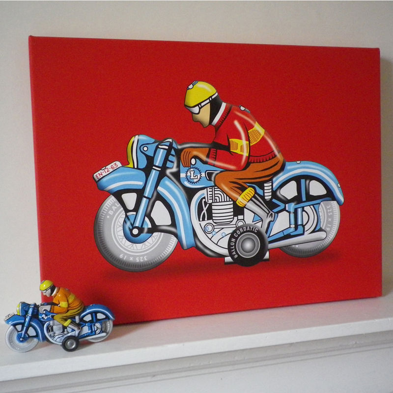 Hungarian Motorbike Canvas Print - product images  of