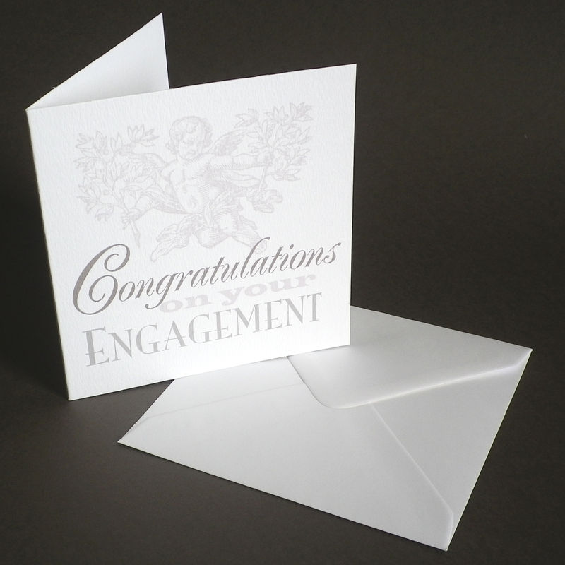 Personalised The Pigeon Post Stationery Co. Engagement CongratulationsCard - product images  of