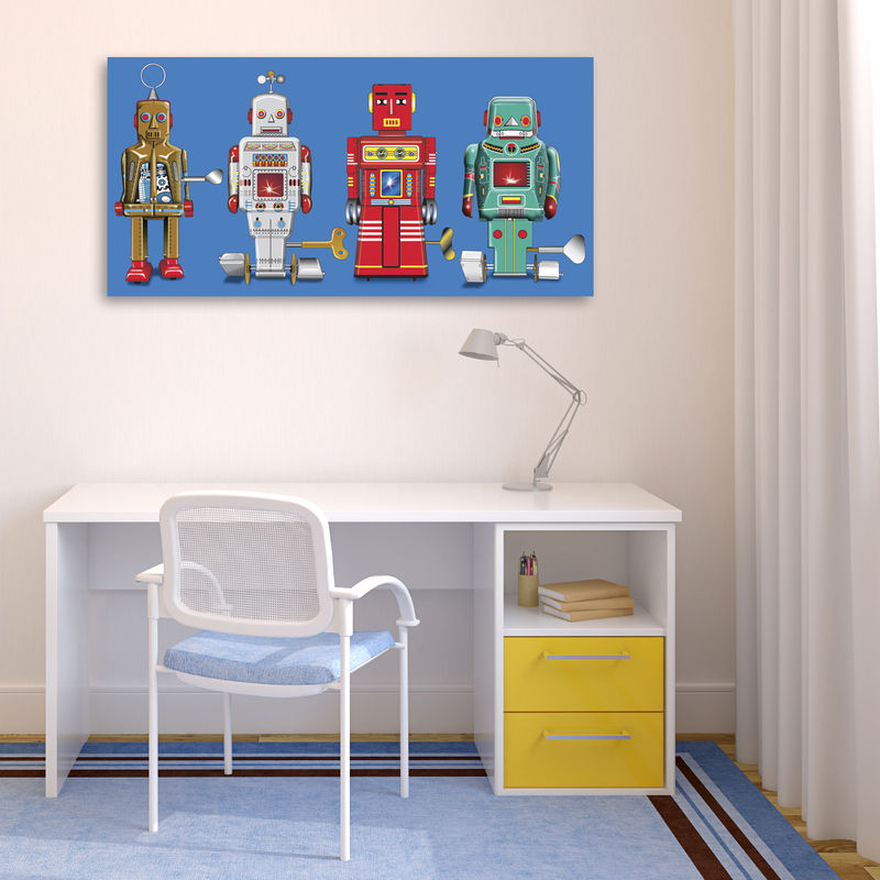 4 Robots Canvas Print - product images  of