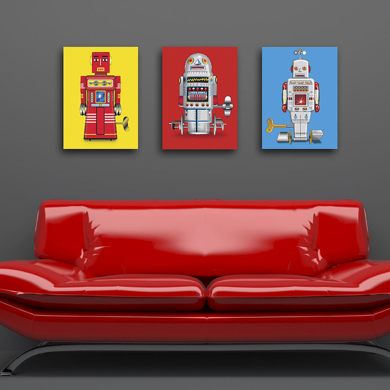 Sparking Robot Canvas Print - product images  of