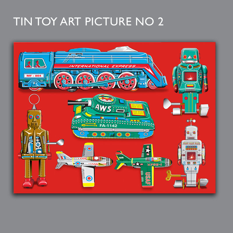 Tin Toy Art Picture No 2 Canvas Print - product images  of