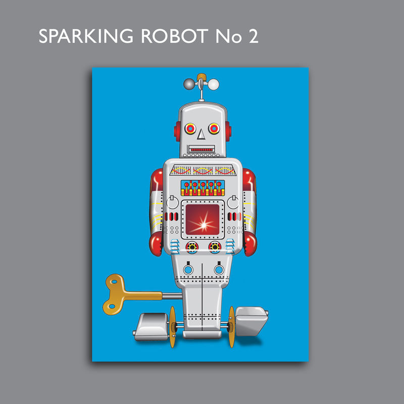 Sparking Robot No2 Canvas Print - product images  of