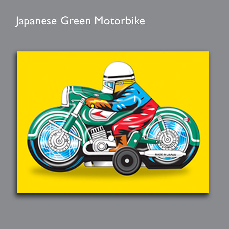 Pop Art Japanese Motorbike Canvas Print - product images  of