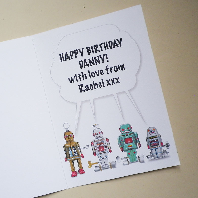 Personalised Talking Robots Card - product images  of