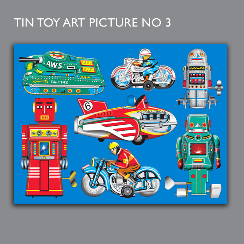 Tin Toy Art Picture No 3 Canvas Print - product images  of
