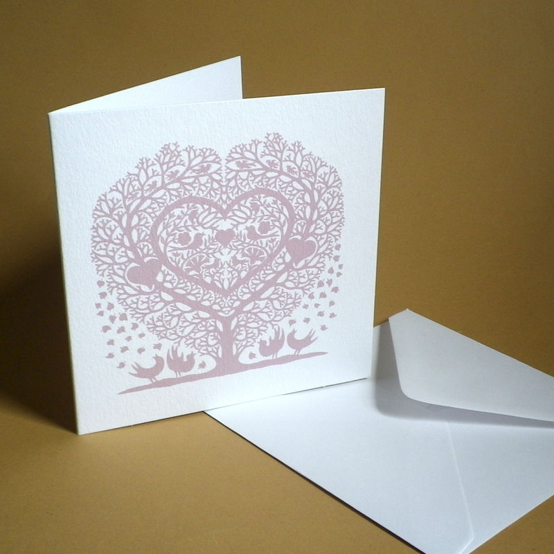 Tree Heart with Songbirds Wedding, Anniversary, Engagement or Valentine's Card - product images  of